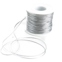 Metallic Cord, 1mm, 100 Yards, Silver