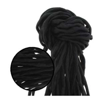 Hand Dyed Silk Strands - Black