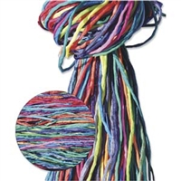 Hand Dyed Silk Strands - Bright