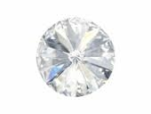 Czech Pointed Back Rivoli - 14 mm - Crystal