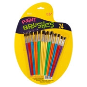 Darice Plastic Handle Paint Brush Set