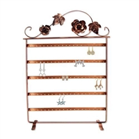 Metal Wire Earring Display Stand with Floral Design
