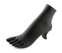 Polystyrene Foot Display - Black