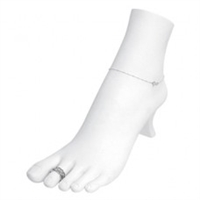 Polystyrene Foot Display - White