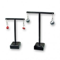 PVC Earring Display 2pcs/Set, S:2 1/2''x1 1/4''x3 3/4'' L:3 1/4''x 1/1/4''x4 1/2''