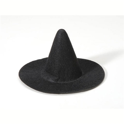 "Black Felt Witch Hat - 2.25"" x 4"""