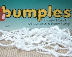 Bumples Doll Hair - White