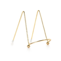 Easel Display Stand - Metal - Gold - 4 inches