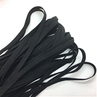 "1/4"" Elastic - Black, 100 yards"