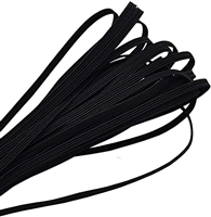 "1/8"" Elastic - Black, 100 yards"