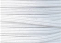 "1/8"" Elastic - White, 50 yards"