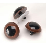 Animal Eyes with Plastic Washers - 25mm Brown