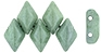 Matubo GEMDUO Bead, 8x5mm, 2-Hole - Luster Stone Green