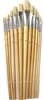 Hawk Assorted Paint Brush Set, Flat and Round - 12 Piece