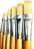 Hawk Assorted Paint Brush Set, Flat - 6 Piece