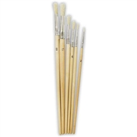 Hawk Assorted Paint Brush Set, Round - 6 Piece