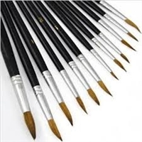 Artists Best Pointed Paint Brush Set - 12 Piece