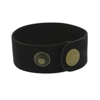"Leather Cuff - Black, 1"" x 9"""