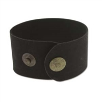 "Leather Cuff - Black, 1 1/2"" x 9"""