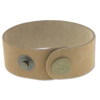 "Leather Cuff - Natural, 1"" x 9"""