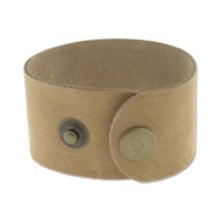"Leather Cuff - Natural, 1 1/2"" x 9"""