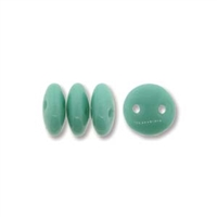 2-Hole Lentil Bead, 6mm, - Turquoise