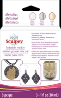 Sculpey Liquid Bakeable Medium - Metallics Set
