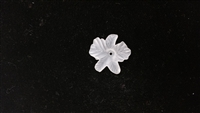 Dyable Frost White Lucite Flower Bead - #1632