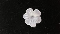 Dyable Frost White Lucite Flower Bead - #1634