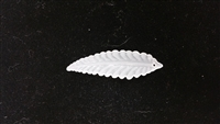 Dyable Frost White Lucite Leaf Bead - #1654