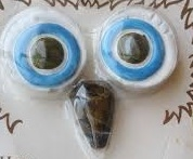 Ceramic Owl Eyes and Beak for Macrame