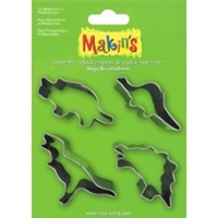 #37102 Makins Clay Cutters- 4 Piece Set - Dinosaurs