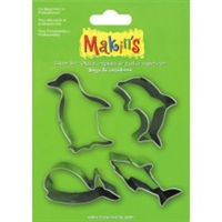 #37101 Makins Clay Cutters- 4 Piece Set - Sea Animals