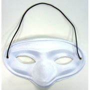 White Satin Mask
