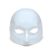 White Half Face Mask