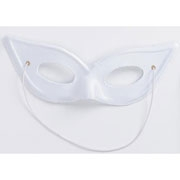 White Satin Bat Mask