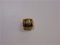 13x12mm Athenian Antique Gold Washed