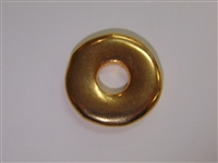 30mm Donut Gold Washed