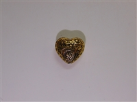 15x13.5mm Filigree Heart Antique Gold Washed
