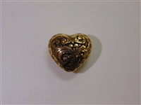 20x18mm Filigree Heart Antique Gold Washed