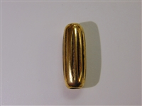 25x9mm Ridged Cylinder Antique Gold Washed