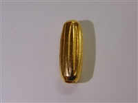 25x9mm Ridged Cylinder Gold Washed