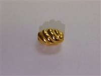 14x10mm Spiral Oval Gold Washed