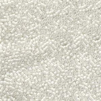DB066 Lined White AB - Miyuki Delica Seed Beads - 11/0