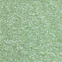 DB1474 Transparent Pale Green Mist Luster - Miyuki Delica Seed Beads - 11/0