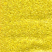DB160 Opaque Yellow AB - Miyuki Delica Seed Beads - 11/0
