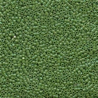 DB163 Opaque Green AB - Miyuki Delica Seed Beads - 11/0