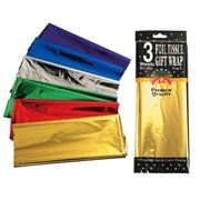 "Solid Color Foil Tissue Paper Sheets - 3 pcs, 20"" x 26"""