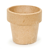 Paper Mache Clay Pot - 2 x 2 inches