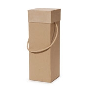 Paper Mache Wine Box - Square - 4-1/4 x 12-1/4 in